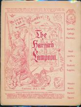 (2) issues of the Harvard Lampoon from 1883 and 1884