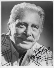 Leon Ames Hand Signed Black & White Photo with Inscription