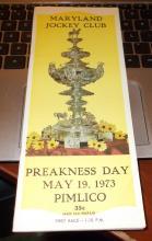 1973 Secretariat's Preakness Program....2nd Leg of History