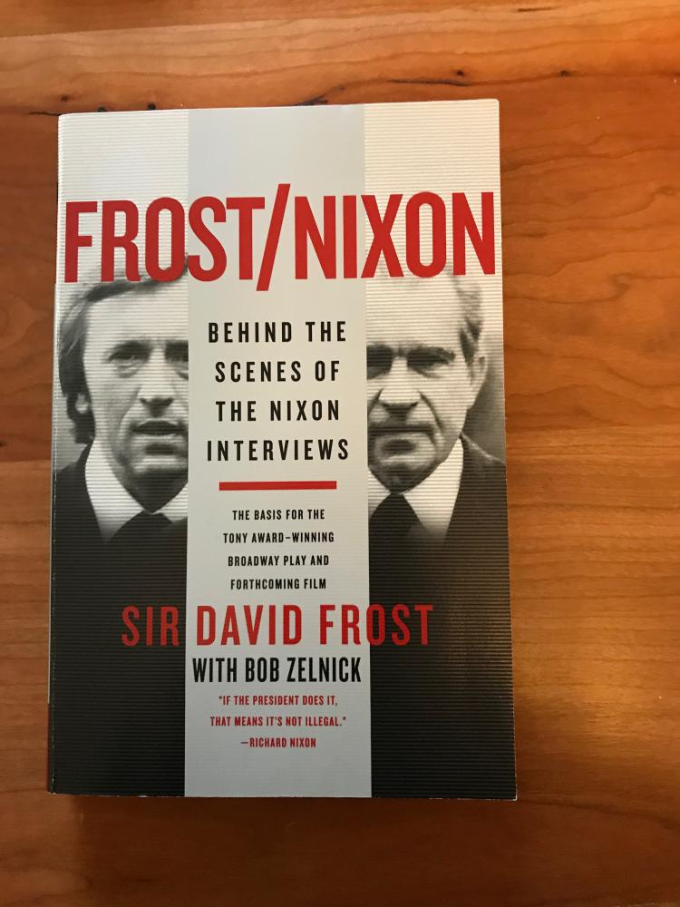 sir david frost hand signed book quotfrostnixonquot
