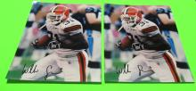 2 Willis McGahee  Autographed Cleveland Browns Photos
