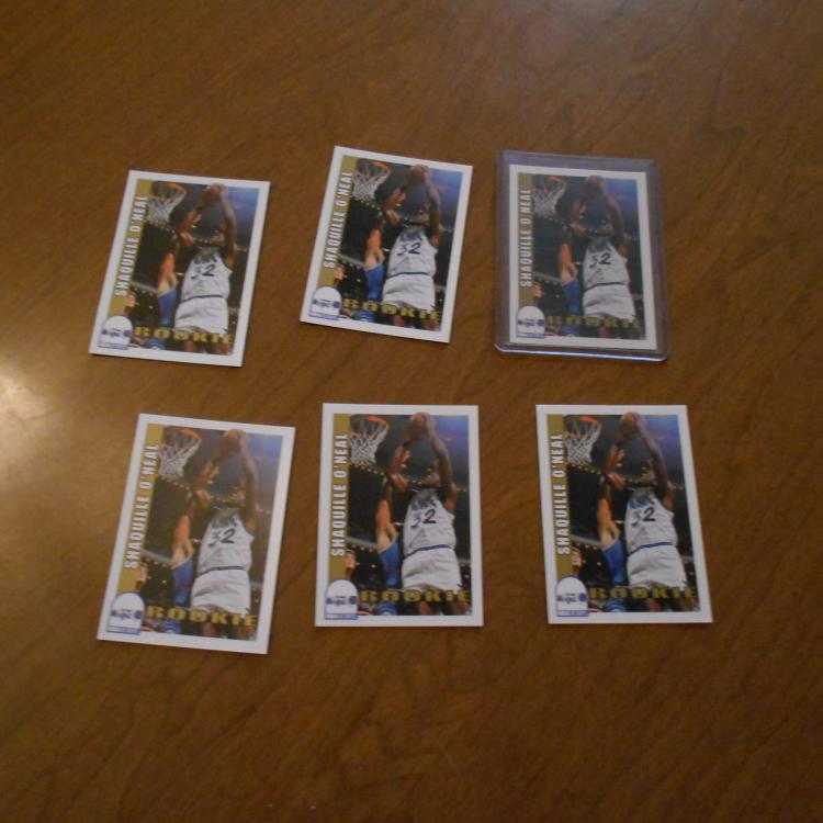 6 Shaquille O'Neal 1992/93 Skybox Rookie Cards #442