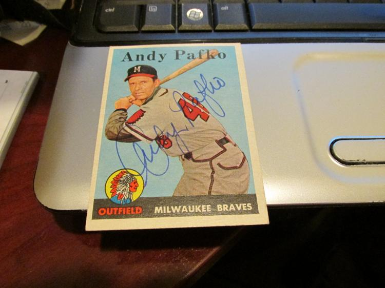 Andy Pafko Autographed Baseball Card