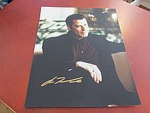 John Travolta Autographed Color Photo
