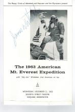 Jim Whitaker Hand Signed Program....1st American On Top Mt.Everest