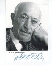 Simon Wiesenthal Hand Signed Photo..Nazi Hunter...Holocaust Survivor