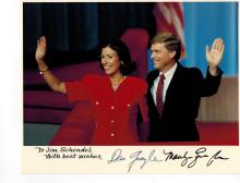Dan And Marilyn Quayle Signed Photo+Marilyn Quayle Signed Letter.