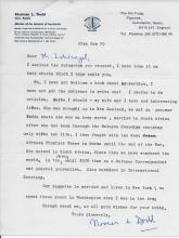 Colonel Norman L. Dodd Ret. Britsh Army Hand Signed Letter