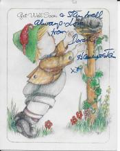 Dorothy Hammerstein Hand Signed Gert Well Card with Envelope