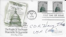 CDR Henry E. Hill  USN Hand Signed First Day Cover