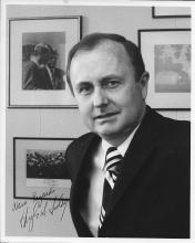 Hugh Sidey  Hand Signed Black & White Photo