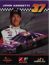 John Andretti Hand Signed Color Photo