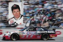 Darrell  Waltrip Hand Signed Color Photo with Inscription