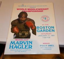 Marvin Hagler Versus Fully Obel ( Boston Garden  Program ) 1/17/81