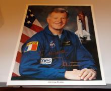 Jean-loup Chretien  Hand Signed Photo  (CNES Spationaut)