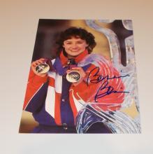 Bonnie Blair  Hand Signed Photo Card