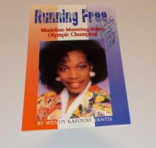 Madeline Manning Mims  Hand Signed  Biography Booklet (Olympic Runner)
