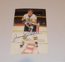 Jean Ratelle  Hand Signed Photo  (Hockey HOF)