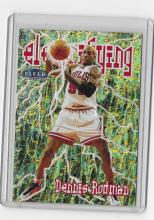 1998-99 Fleer Tradition Electrifying #10 Dennis Rodman Rare Insert Card