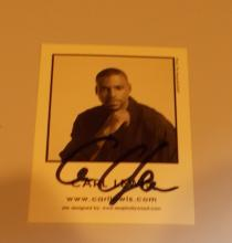 Carl lewis  Hand Signed Photo