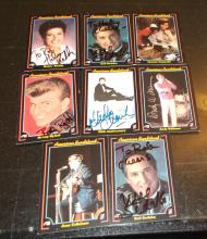 Lot of 8 Hand Signed American Bandstand Cards...