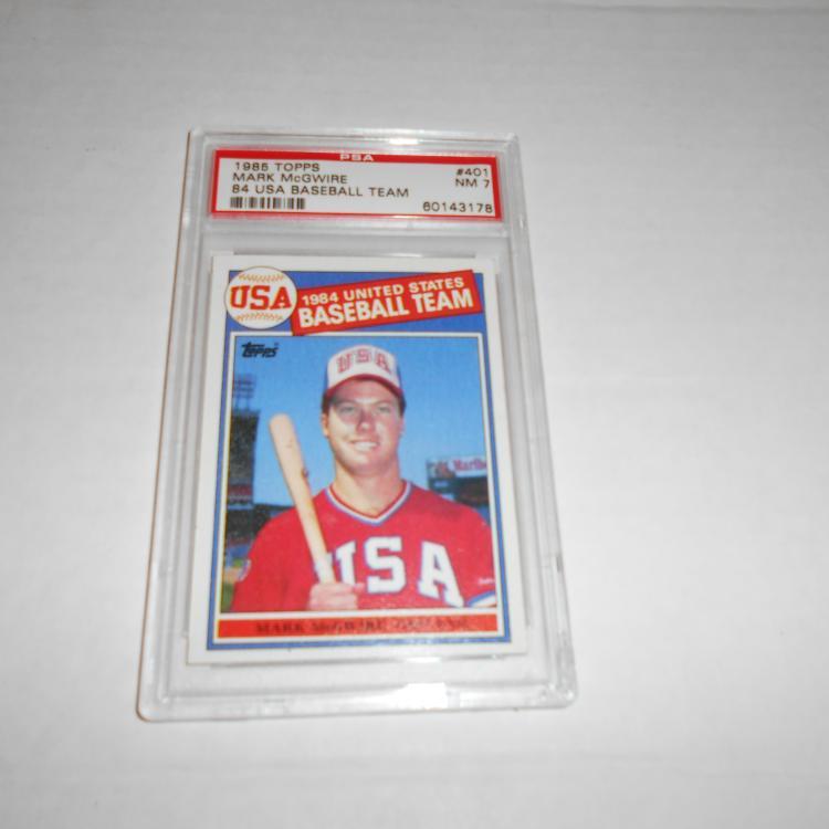 Mark Mcgwire 1985 Topps Baseball Card 401 Nm 7 84 Usa Rc