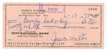 Jessica Walter Hand Signed Check....