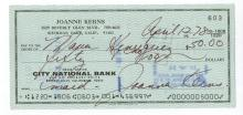 Joanne Kerns Hand Signed Check.....