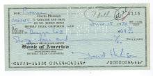 David Hedison Hand Signed Check.