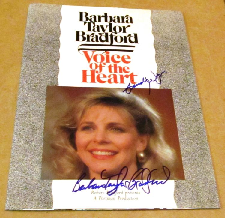 Barbara Taylor Bradford & Lindsay Wagner  Autographed