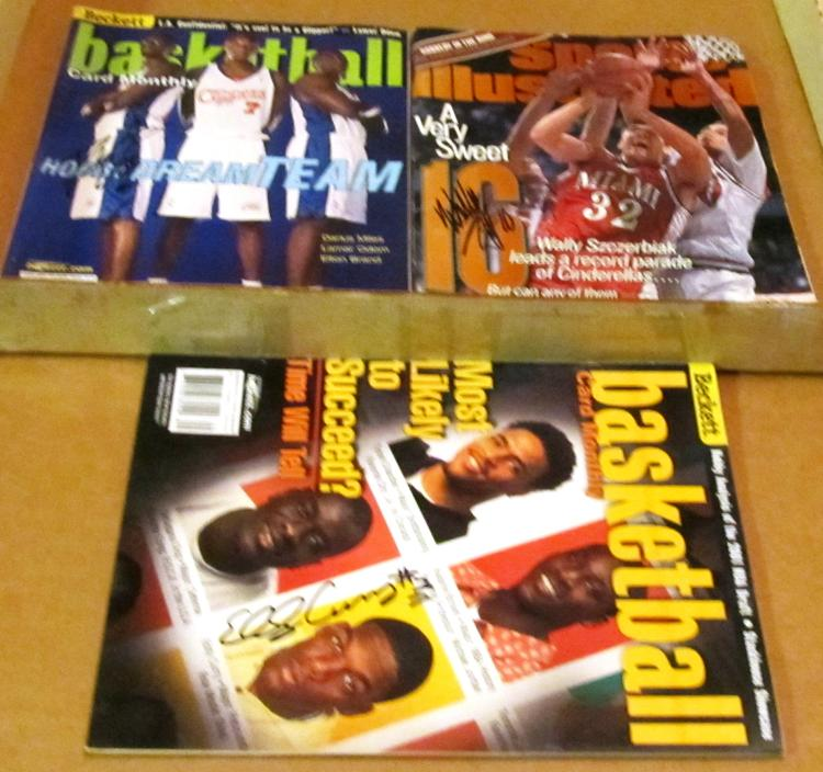 Eddy Curry, Darius Miles & Wally Szczerbiak Autographed Basketball Magazines