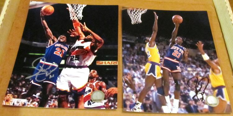 Gerald Wilkins Autographed New York Knicks & Cleveland Cavaliers Color Photos