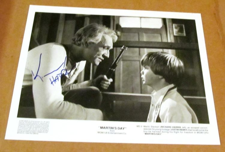 Richard Harris Autographed
