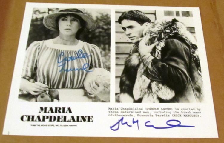 Carole Laure & Nick Mancuso Autographed