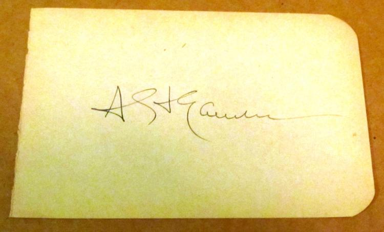 Augustus St. Gaudens  Autographe Album Page