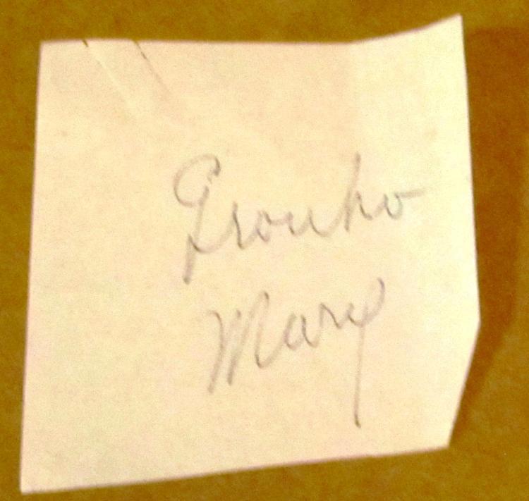 Groucho Marx Autographed Album Page