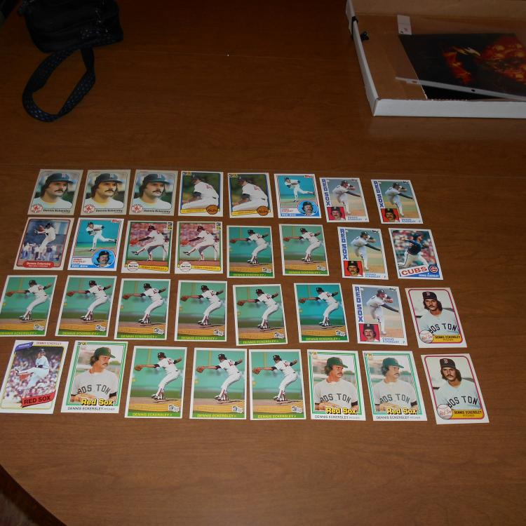 32  Dennis Eckersley Early 80's Baseball Cards  Sharp Corners!