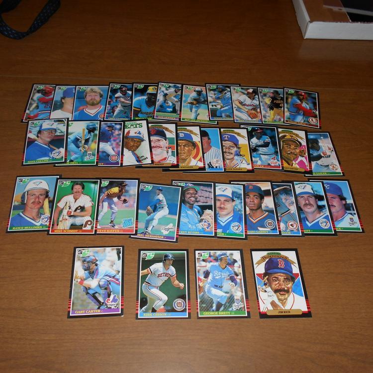 36  1985 O-Pee-Chee  Baseball Cards Brett Schmidt, Carter Hershiser