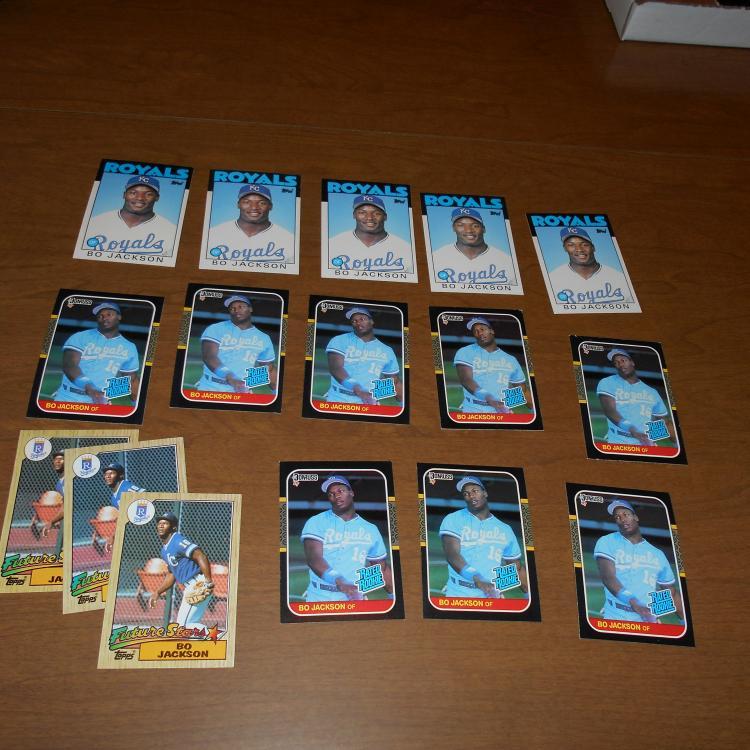 Bo Jackson 66 Baseball Cards  16RCs  5 86   #50T