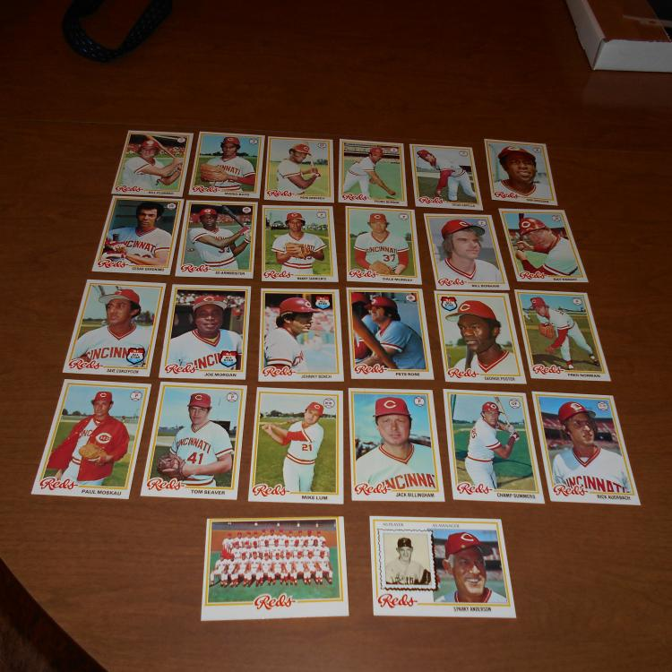 Cincinnati Reds  1978  26 Card Team Set  Rose, Bench, Seaver, Morgan, Sparky
