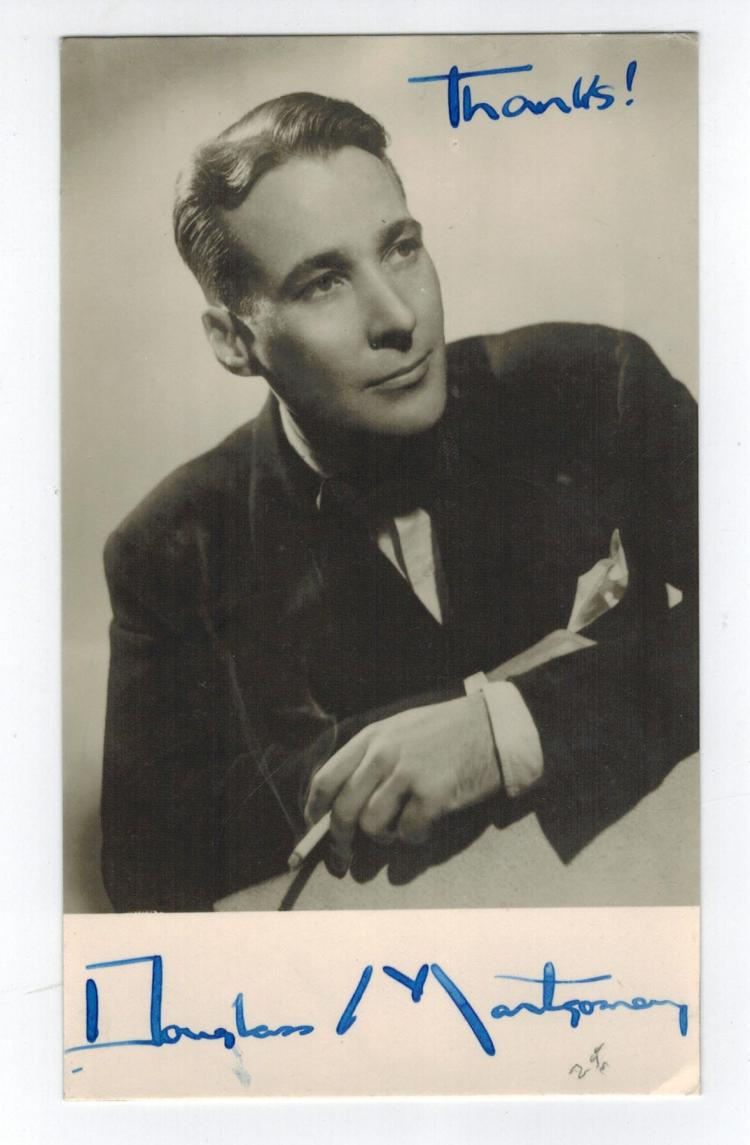 Douglas Montgomery Hand Signed Photo...