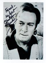 Christopher Plummer Hand Signed Photo....Oscar Winning Actor.