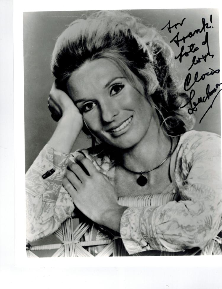 Cloris Leachman Hand Signed Photo...Oscar Winning Actress.