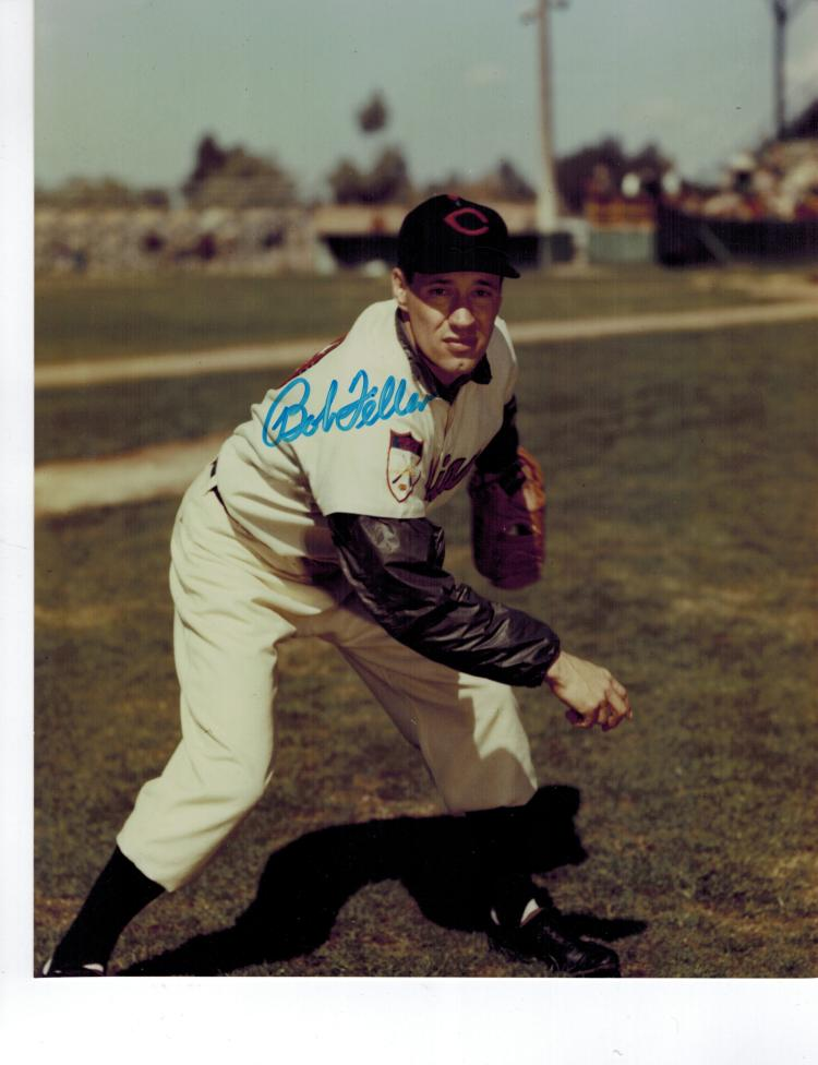Bob Feller Hand Signed Photo