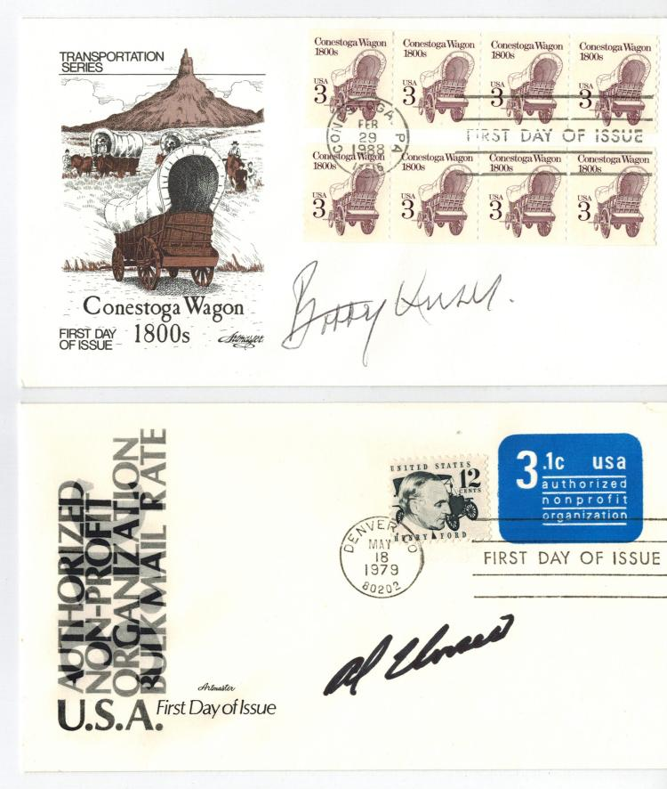 Bobby+ Al Unser Hand Signed First Day Covers.....