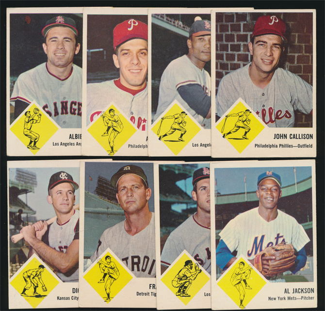 (8) 1963 Fleer Baseball Cards (Vg/Ex)