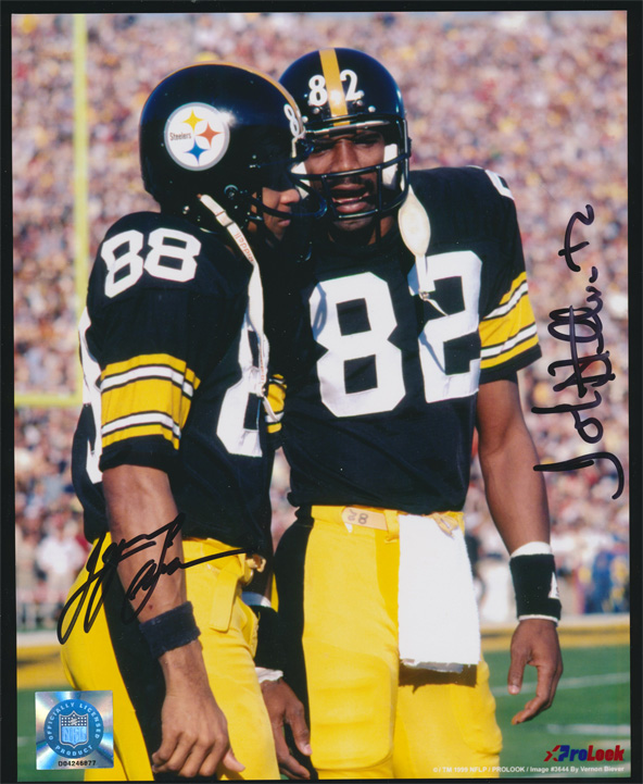 John Stallworth and Lynn Swann Multi Autographed 8x10 Photo