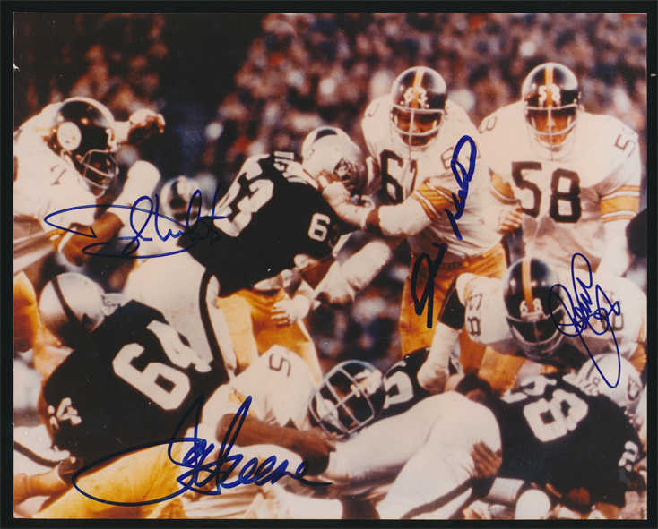 Pittsburgh Steelers Steel curtain multi signed 8x10 by all 4