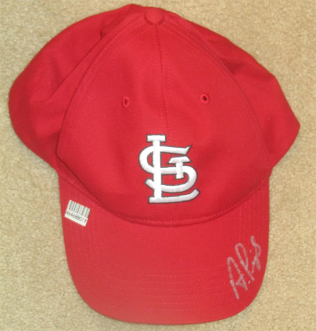 Albert Pujols Autographed St. louis Cardinals TEI Velcro fitted hat