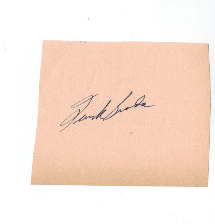 Turk Broda Hand Signed Album Page.....Hockey HOF
